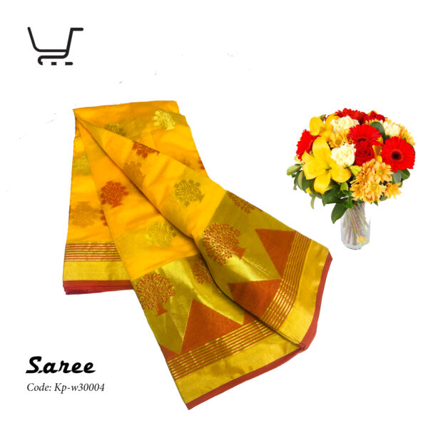 Indian Silk Katan Saree – Yellow