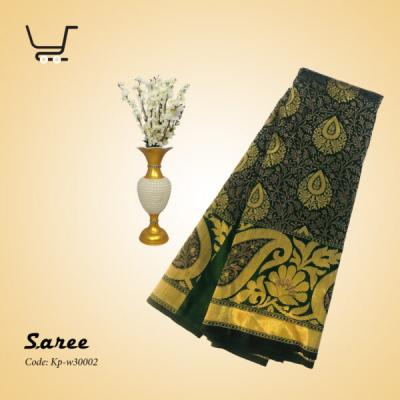 Indian Silk Katan Saree-Green